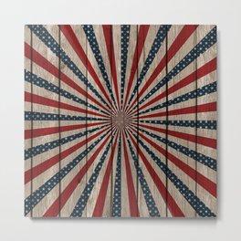 Patriotic Wood Texture #3 Metal Print