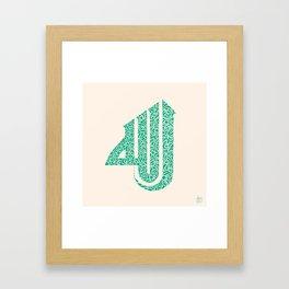EmeraldGreen 'Allah'  Framed Art Print