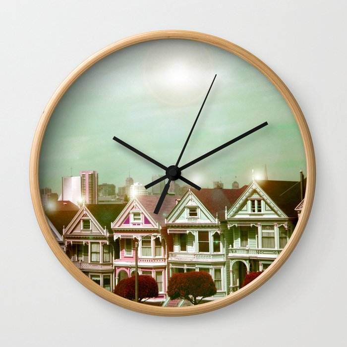 Painted Ladies - remix Wall Clock
