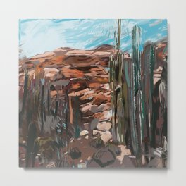 Desert Mindset - Settings Series, 2018, Foolish Studio Metal Print