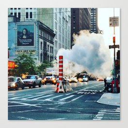 New York: Steam Stack Canvas Print