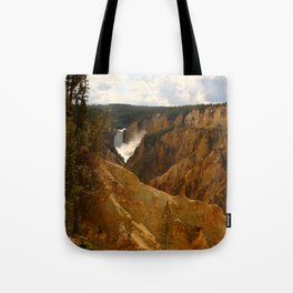 Thundering Waters Of The Yellowstone River Tote Bag