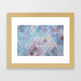 Abstract Harlequin Tiles Framed Art Print