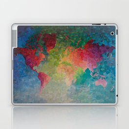 Recycled Color World Map Laptop & iPad Skin
