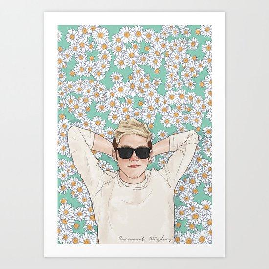 Niall daisies field Art Print