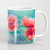 poppies Mugs featuring Poppies by LudaNayvelt