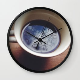Clouds in my coffee Wall Clock