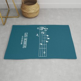 Close Encounters of the Third Kind - Alternative Movie Poster Rug