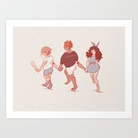 Holding Hands Art Print