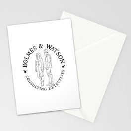holmes and watson stamp Stationery Cards