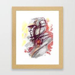 SAD MEGATRON Framed Art Print