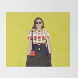 Peggy Olson Mad Men Throw Blanket