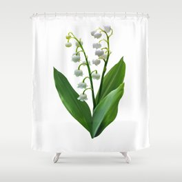 Lily of the Valley Floweret Shower Curtain