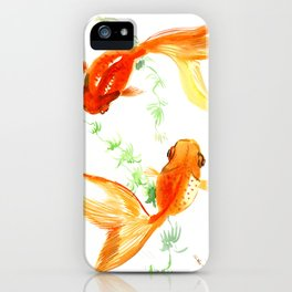 Goldfish, Feng Shui Asian Watercolor iPhone Case