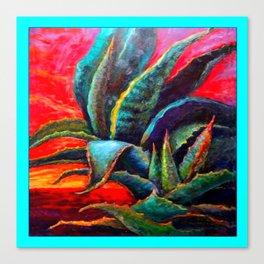 WESTERN DESERT BLUE AGAVE Canvas Print