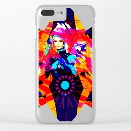 Space Woman Clear iPhone Case