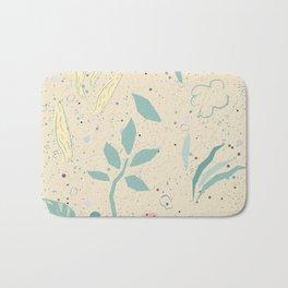 Seamless delicate floral pattern  Bath Mat