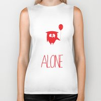 alone Biker Tanks featuring Alone by MuicRoom