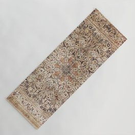 Silk Esfahan Persian Carpet Print Yoga Mat
