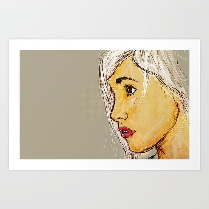Looking sideways Art Print