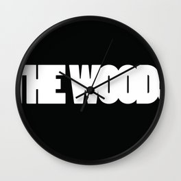 The Woods logo white Wall Clock