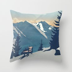 Mountain Sunrise (Pause II) Throw Pillow