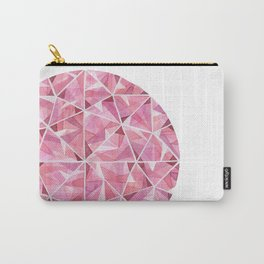 Red Round Gem Carry-All Pouch