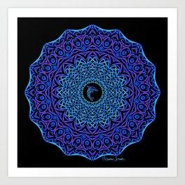 Tribal Dolphin Mandala Art Print