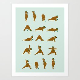 Yoga Bear! Art Print