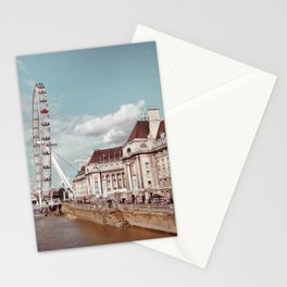 Postcard Picture of the London Eye & The Thames, moody blue tint Stationery Cards