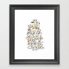 Wild Family Series - Meerkat Framed Art Print