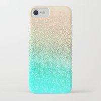 aqua iPhone & iPod Cases featuring GOLD AQUA by Monika Strigel