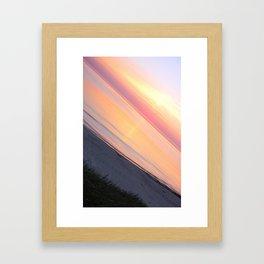 Sunset in the beach Framed Art Print