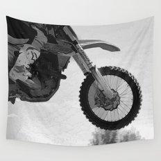 Motocross Dirt-Bike Racer Wall Tapestry