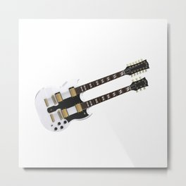 Double Neck Guitar Metal Print