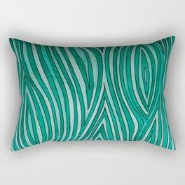Green Wood Grain Rectangular Pillow