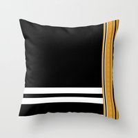 steelers Throw Pillows featuring Maldivian Sarong (Feyli) by Arcturus