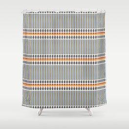 Geometric Stripes Seamless Vector Pattern Art Deco Shower Curtain