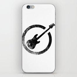 Bass Guitar Ink Stamp iPhone Skin