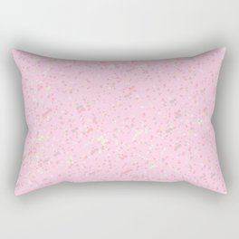 cute soft pink abstract background illustration with colorful spots and blots Rectangular Pillow