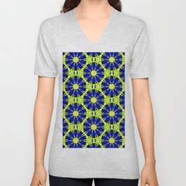 Blue Green vector abstract floral background Unisex V-Neck