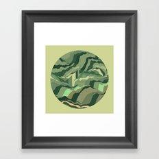 TOPOGRAPHY 005 Framed Art Print