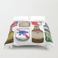beer Duvet Covers featuring Beer by Jennifer Epstein