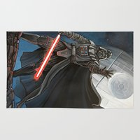 death star Area & Throw Rugs featuring Death Star by Laura-A