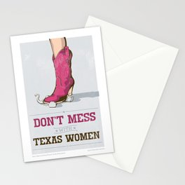 Don't Mess with Texas Women Stationery Cards