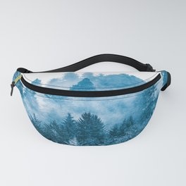 Blue Foggy Forest Adventure #46 Fanny Pack