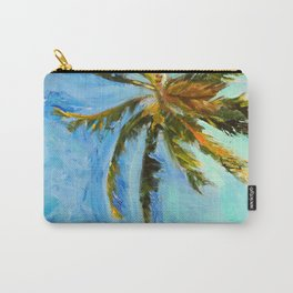 Akumal Palm Tree Painting Carry-All Pouch