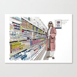 Jeffrey Lebowski and Milk. Canvas Print