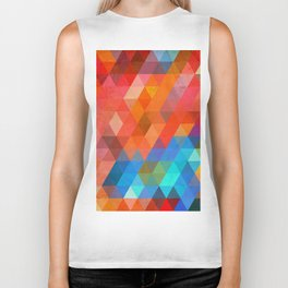 Color Triangles Biker Tank