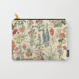 Vintage Floral Drawings // Fleurs by Adolphe Millot XL 19th Century Science Textbook Artwork Carry-All Pouch